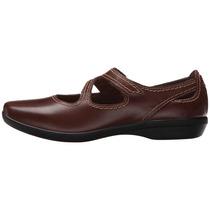 Zapato Mujer Clarks Haydn Pond Café Planos Cuer Envío Gratis