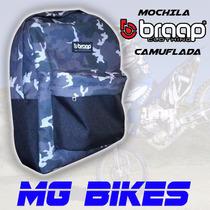 Mochila Braap Camuflada Moto Excelente Calidad Solo Mg Bikes