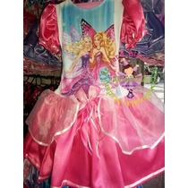 Vestido Fantasia Roupa Aniversário Barbie Infanto Juvenil