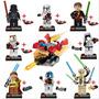 Lego Star Wars Compatível Coleção 8 Bonecos + Nave