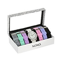 Reloj Xoxo Para Mujer Tono Plateado 7 Bandas Intercambiables