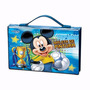 Maleta Infantil Colorir Kit Mickey 72 Ítens Molin