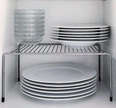 Set 2 Organizadores De Alacenas Gris Aluminio Estante 36%off -   391 ... f19e04e38427