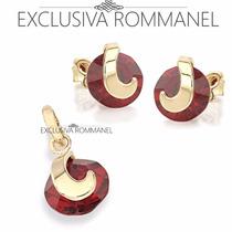 Rommanel Conjunto Brinco E Pingente Solitario 524472 541672