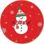 Navidad Muñeco De Nieve Manteleria Infantil Importada