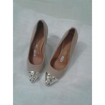 Sapato Scarpin Feminino Vizzano - Nude N39