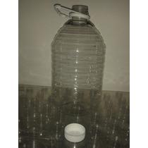 Botella Pet 5 Litros Pqt De 25 Piezas Con Tapa Y Agarradera