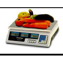 Balanza Comercial 40kg Electronica Bateria Doble Visor Sumas