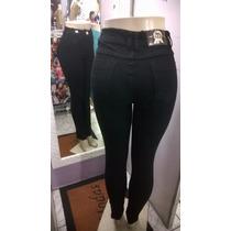 Calça Jeans Cintura Alta Hot Pants Lycra Feminina Bege Preta