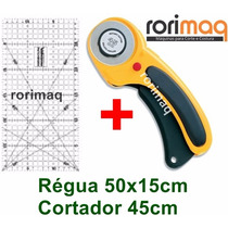 Kit Patchwork Cortador Circular + Régua 50x15 Scrapbook
