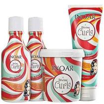 Inoar Divine Curls Kit Shampoo Condicionador Gel E Máscara