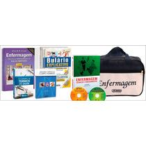 Kit Básico De Enfermagem Com 05 Livros 02 Dvds E Bolsa