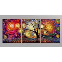 Cuadros Trípticos Texturados - Campa Arte 180 X 50