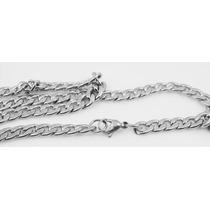 Colar Cordão Corrente Masculino Batido Aço Inox 316l 70cm 6