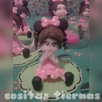 Suvenir Nena Minnie En Porcelana Fria