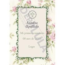 Tarjeta Invitación Floral Bautismo, Comunión, Recuerdo!