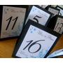 Números De Mesa - Indicadores Personalizados Menú Invitados