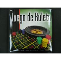 Juego De Ruleta C/plato,250 Fichas Y Paño Bisonte / Z.devoto