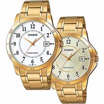 Reloj Caballero Casio Mtpv004 - Cristal Mineral - Cfmx