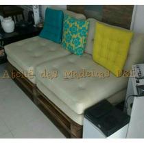 Sofá Cama D & E Pallet Palete 0,75x1,60 Novo/ Lixado Decorar