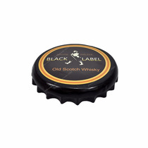 Placa Decorativa Tampa De Garrafa Black Label 30x5 Ceramica