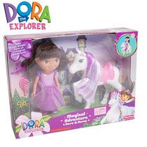 Dora La Exploradora Muñeca Con Caballo Fisher Price Mnd
