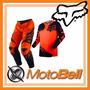 Conjunto Fox 180 Naranja Motocross Enduro Moto