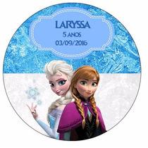 48 Rotulo Adesivo Festa Frozen Aniversário Personalizado