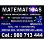 Profesor De Matemáticas A Domicilio, Clases San Borja Surco