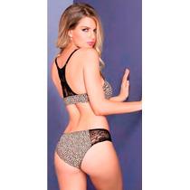 Coordinado Vicky Form Brassiere Y Bikini Animal Print 2734