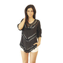 Remera Remeron Mujer Crochet, Brishka C-0027