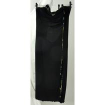 Vestido Em Microfibra Com Lantejoulas Preto - Tam (m)
