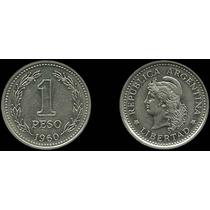 Argentina 1 Peso 1960 Km# 57