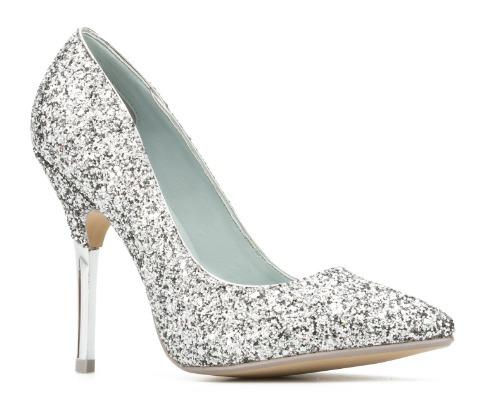 zapatos plata andrea 18639 fiesta boda novia tacón 11cm - $ 499.00