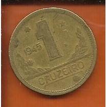 Moeda Brasil 1 Cruzeiro Ano 1945 Bronze-alumínio 23mm S/s