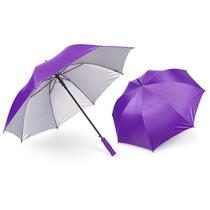 Paraguas Golf Interior Plateado 27 Pulgadas-morado