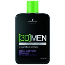 Shampoo Antiqueda Ativador De Raíz 3d Men 250ml