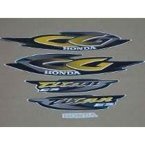 Kit Adesivos Faixas Honda Cg 125 Titan Ks 2001 Verde