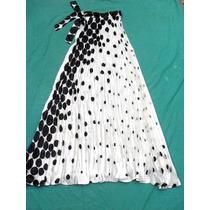 Vestido Mujer Plisado A Lunares Nuevo Talle Hasta Xl