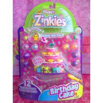 Squinkies Zinkies Figuras Miniatura Pastel De Cumpleanos