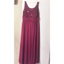 Vestido Combinado Encaje Con Lentejuelas Forrado T 8 $ 1800