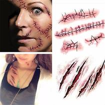 Maquillaje Hallowen Tatuaje 55 Planillas Con Envio Mayoreo