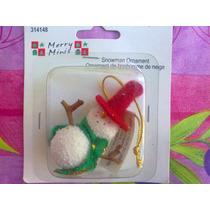 Mono De Nieve Miniatura Para Decoracion O Casitas Miniatura