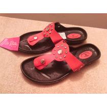 Sandalias Confort Marca Kriza Talla 36 Color Rojo Nuevas