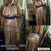 Vestido De Festa - Casamento - Veste Até Gg - Novo