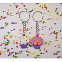 10 Souvenirs Llaveros Cupcakes De Porcelana Fría Cumpleaños