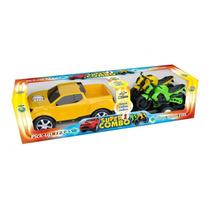 Super Combo Carrinho Pick-up Texas E 2 Motos Reboque Criança