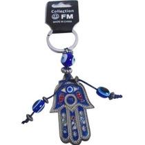 Chaveiro Amuleto Mão De Fátima Com Olho Grego - Frete Grátis