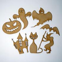 Souvenir Halloween Fibrofacil Figuras 7 Cm Alto X 10 Unid.