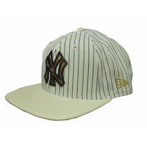 Bone New Era Original Importado New York Ny Snapback Branco